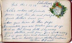 18 Ellis Dart's Autograph Book-Helen F Dart Page 16