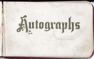 2 Ellis Dart's Autograph Book-Title Page